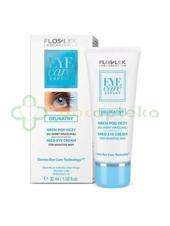 FlosLek Eye care, delikatny krem pod oczy, 30 ml